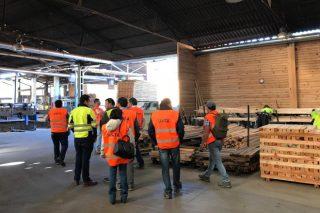 Empresarios chilenos da industria da madeira visitan Galicia