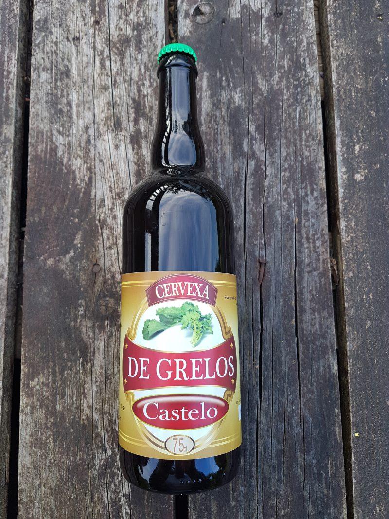 Cervexa de grelos de Champivil, que obtivo a medalla de prata na Cata de Cervexas Artesás de Galicia 2018