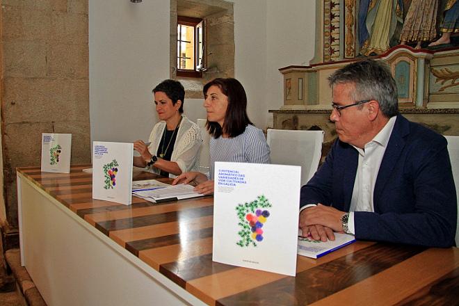 Mar Vilanova, primeira pola esquerda, na presentación do libro