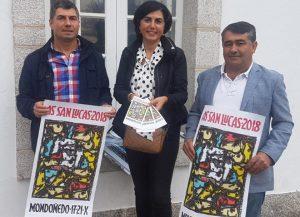 Elena Candia e os presidentes do CRAEGA e da asociación As San Lucas presentaron o Mercado
