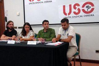 Rueda de prensa de USO.