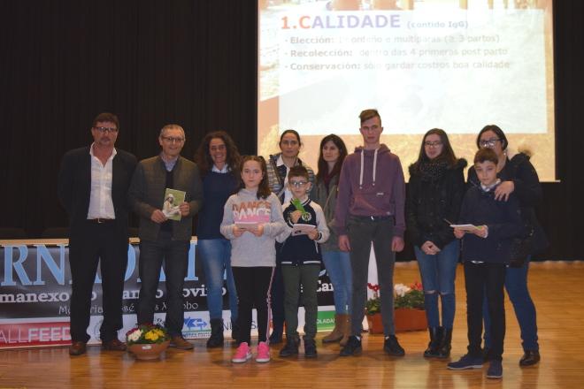 Fotos dos premiados no concurso de debuxo de AFRICOR Pontevedra
