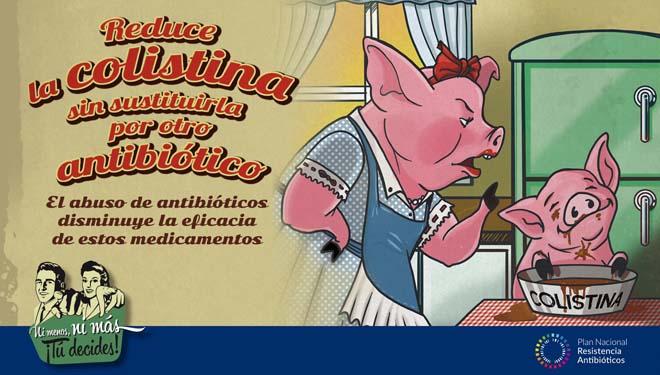 Imaxe promocional do Plan contra as Resistencias ós Antibióticos.