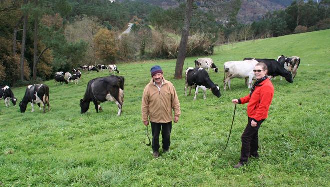 """""""Gústame que as vacas saian ó aire libre e disfruten dos pastos"""""""