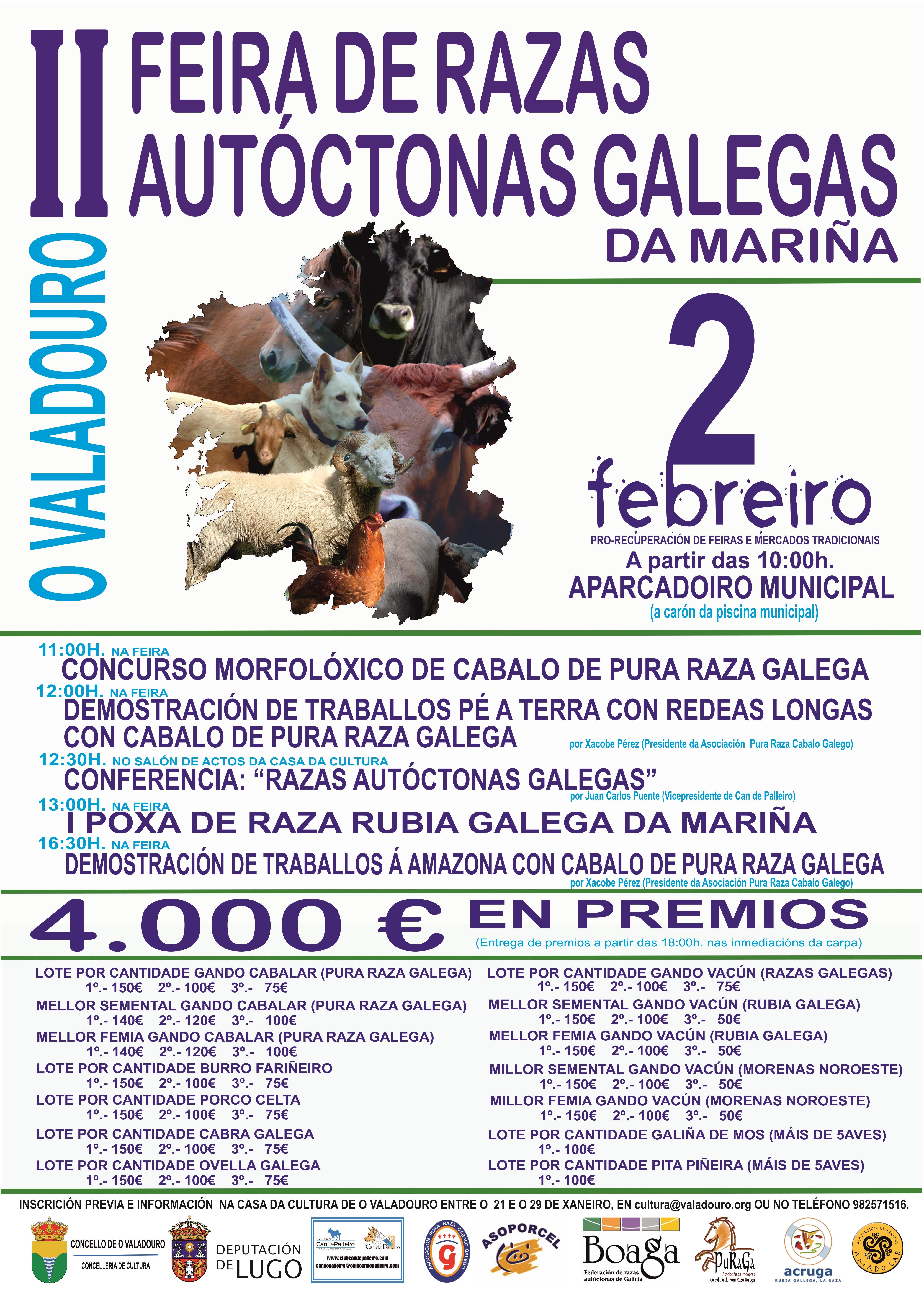 cartel II FEIRA RAZAS AUTOCTONAS GALEGAS Valadouro