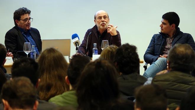 Ramón Gea, Josep Turet y Miguel López, de izquierda a derecha.