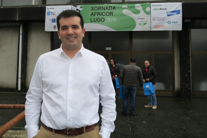 Juan Cainzos durante as xornadas técnicas de Africor na facultade de Veterinaria de Lugo