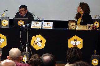 Benigno Basteiro, en la charla ofrecida en la Feria Apícola Rías Baixas.