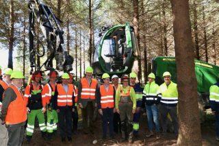 Escaparate para la cadena forestal gallega en la visita real