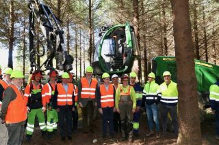 Escaparate para a cadea forestal galega na visita real