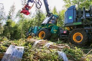 Proban unha nova empacadora de biomasa forestal coa que reducir os custos silvícolas