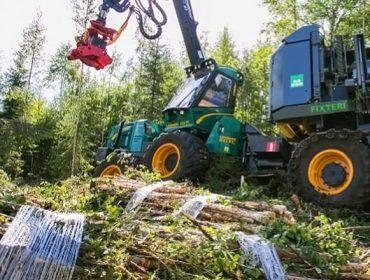 Prueban una nueva empacadora de biomasa forestal con la que reducir los costes silvícolas