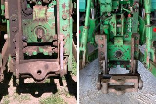 Dous enganches iguais en dous tractores idénticos, un pasa a ITV, outro non