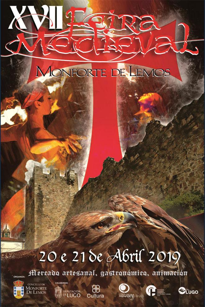 Cartel da Feira Medieval de Monforte do ano 2019