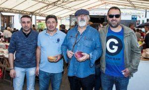 De esquerda a dereita, Paco Sanromán, Manuel Cancio, Padín e Regal
