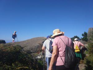 Imaxe dunha das andainas para que as mulleres tomaran instantáneas sobre o monte