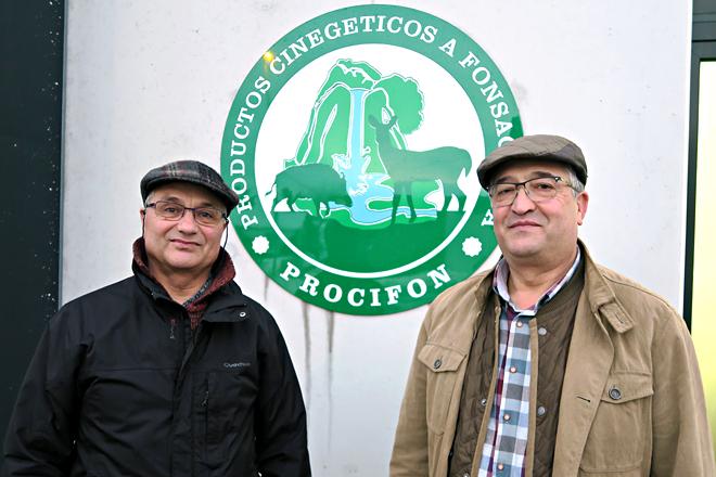 Os irmáns Manuel e José Luis Pérez González dirixen Embutidos Buenavista e a sala de despece de caza