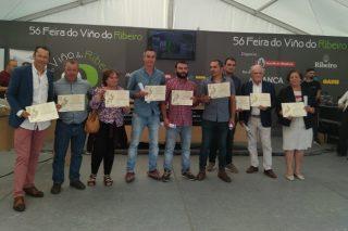Ganadores de la cata popular de la Feira do Viño do Ribeiro