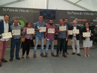 Gañadores da cata popular da Feira do Viño do Ribeiro