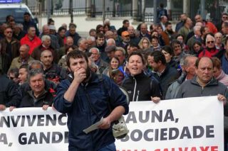 La marcha discurrió entre Medio Rural y Medio Ambiente.