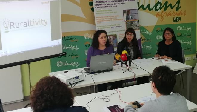 Presentan el proyecto Ruraltivity, que busca fomentar el emprendimiento femenino