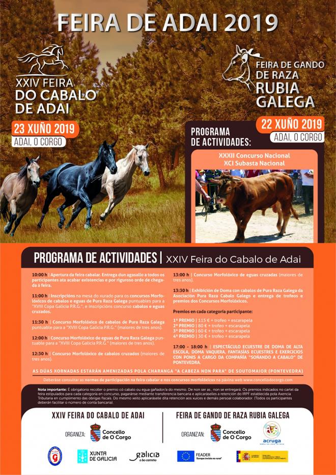 cartel Feira do Cabalo de Adai 2019