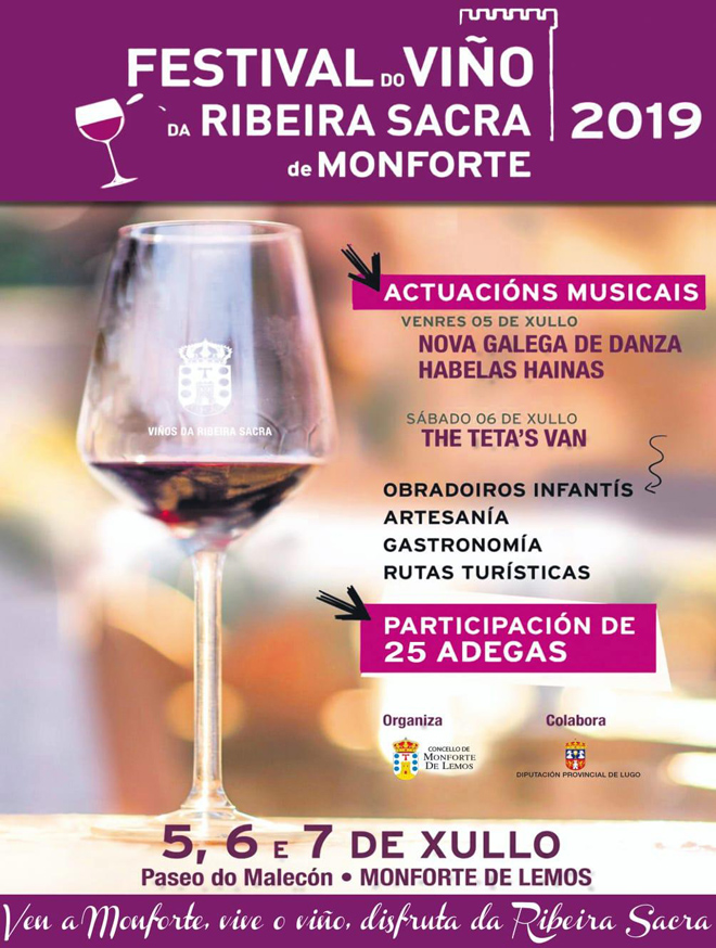 cartel Festival do Viño Monforte 2019