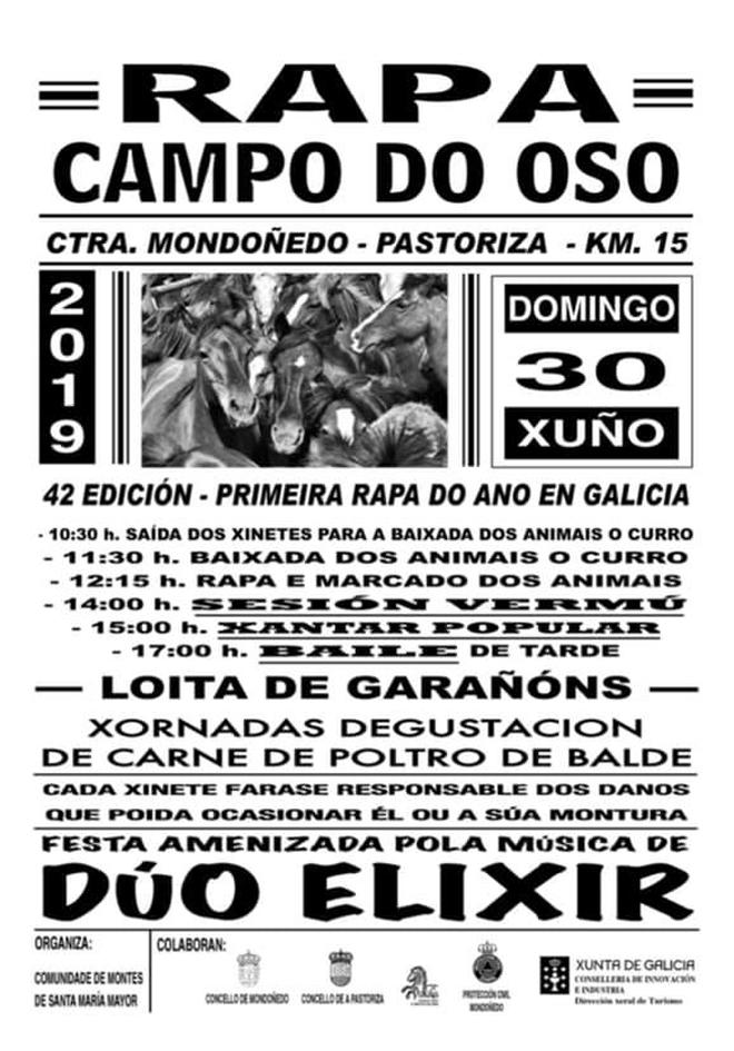 cartel Rapa das Bestas de Campo do Oso