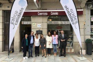 Entrega del sello Galicia Calidade a Confitería Cerviño, de O Carballiño
