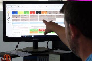 Vista de la pantalla del programa en el ordenador.
