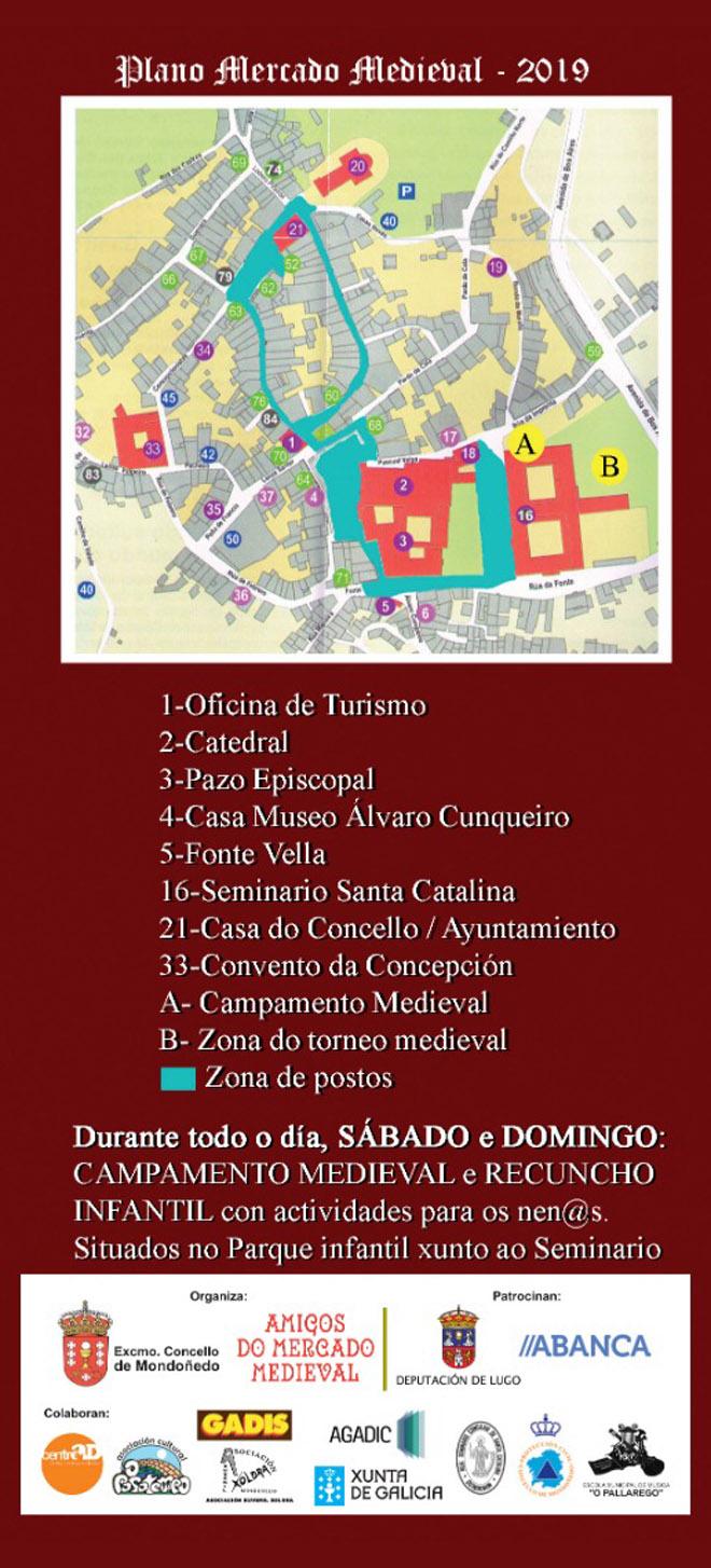 cartel mercado medieval Mondoñedo 2019-2
