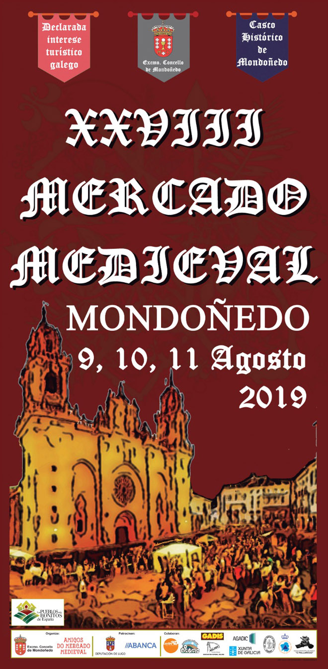 cartel mercado medieval Mondoñedo 2019