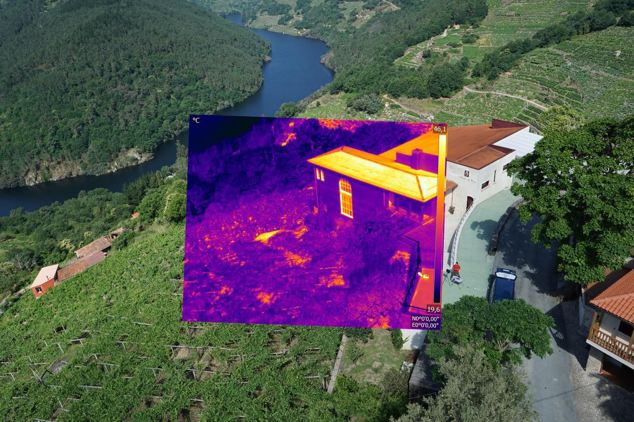 Drones para evaluar la eficiencia energética de las bodegas de Ribeira Sacra