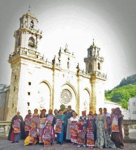 foto presentacion cartel mercado medieval Mondoñedo 2019