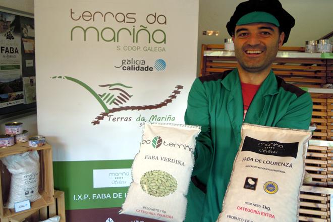 José Cuadrado, nas instalacións da cooperativa Terras da Mariña