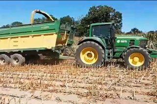 Vídeo do primeiro ensilado do millo en Galicia