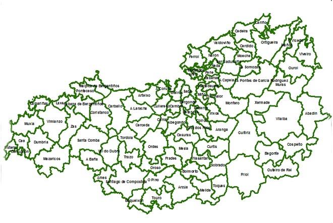Zona norte de Galicia na que actúa Navigator.