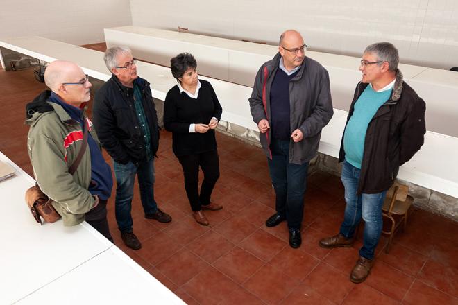 Imaxe da antiga nave dos queixos tomada o pasado mes de novembro, cando os rexedores dos catro concellos suscribiron o acordo de colaboración