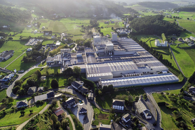 Industrias Lácteas Asturianas mantiene su sede en Anleo, en el municipio asturiano de Navia