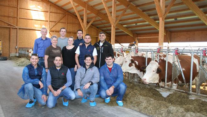 Gandeiros galegos viaxan a Austria para coñecer a raza Fleckvieh