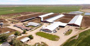 Vista aérea de Andersen Dairy en Idaho