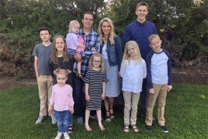 Ben Andersen coa súa muller e os seus fillos