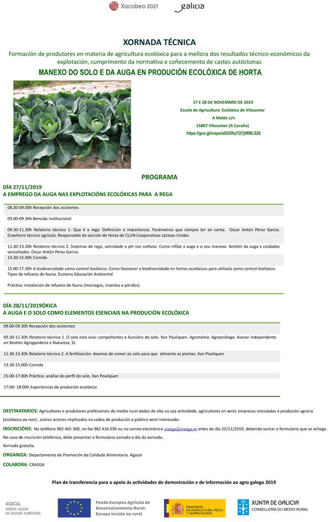 Xornada Produción ecoloxica en horta Vilasantar