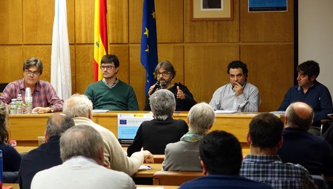Mesa redonda con representantes de las comarcas produtoras, IGP Castaña de Galicia y Medio Rural.