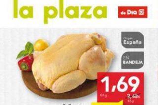 """Denuncian a la cadena de supermercados Día por """"hundir"""" el precio del pollo"""