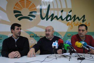 Unións Agrarias, hoy en rueda de prensa.