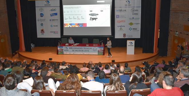 Un momento da charla de Almudena Tato nas xornadas organizadas por Seragro na facultade de Veterinaria