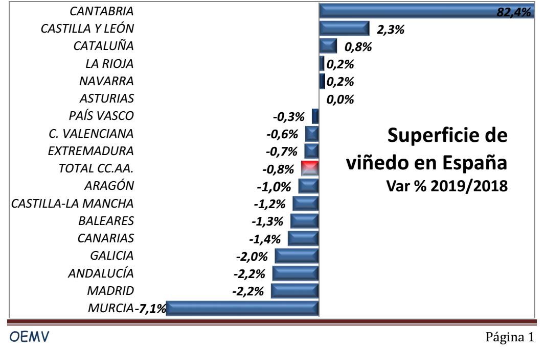 VIÑEDO ESPAÑA SUPERFICIE 2019 1