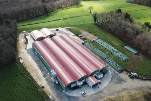 Foto aérea das novas instalacións en Sabadel de Troncedo