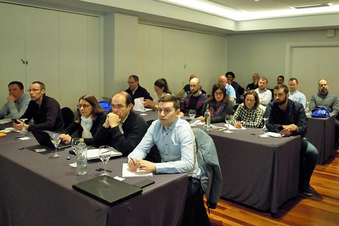 Algúns dos expertos europeos reunidos esta semana en Galicia